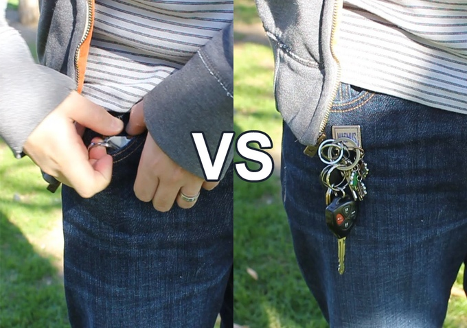 Rintik Magmus - Magnetic key holder - holds your keys on exterior of your pocket