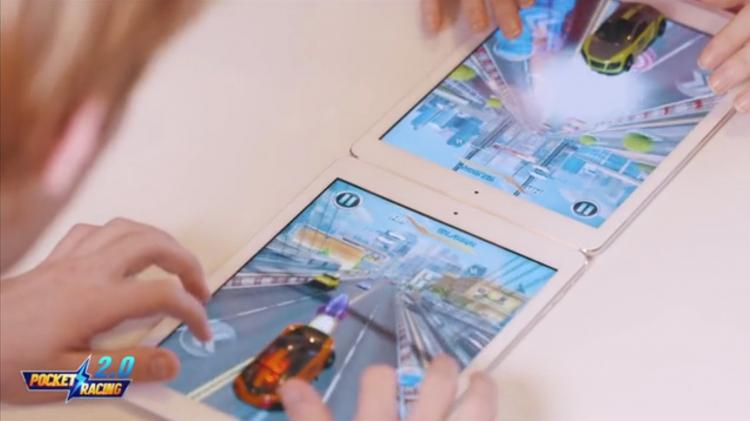 Pocket Racing 2.0 - iPad Game With Real Toy Car That Interacts With Real-Time Feedback