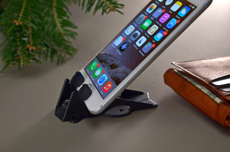 Pocket Tripod - Phone Mount Folds Down To Fit In Your Wallet - Tiny Portable phone mount/tripod