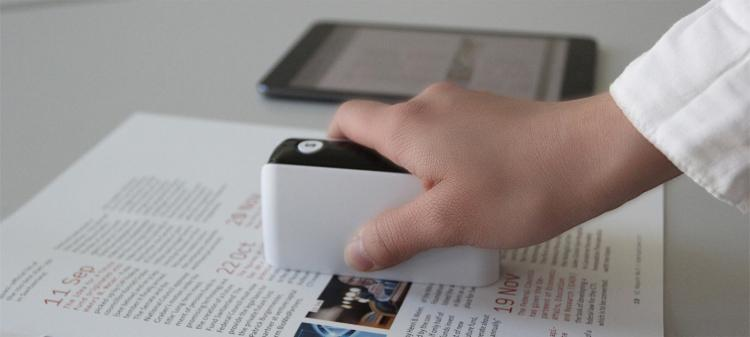 PocketScan - World's Smallest Document Scanner - Tiny Wavable Scanner