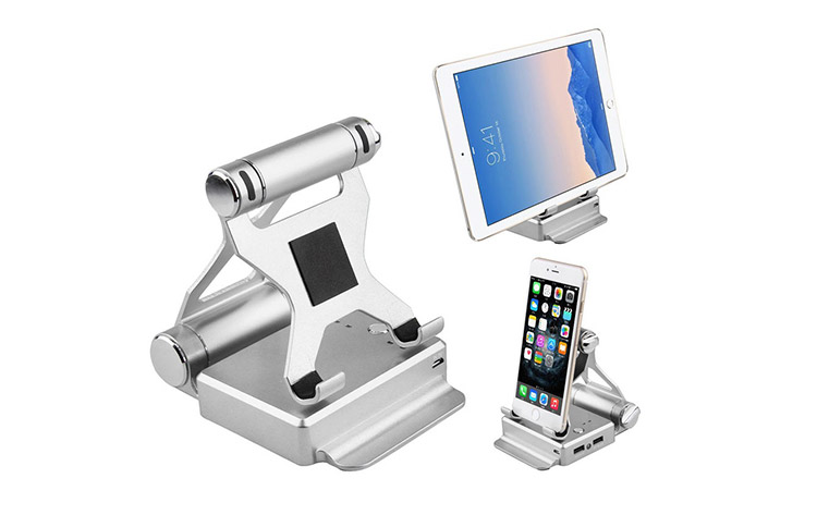 Podium Stand Phone and Tablet Charger - Travel Stand and Charger