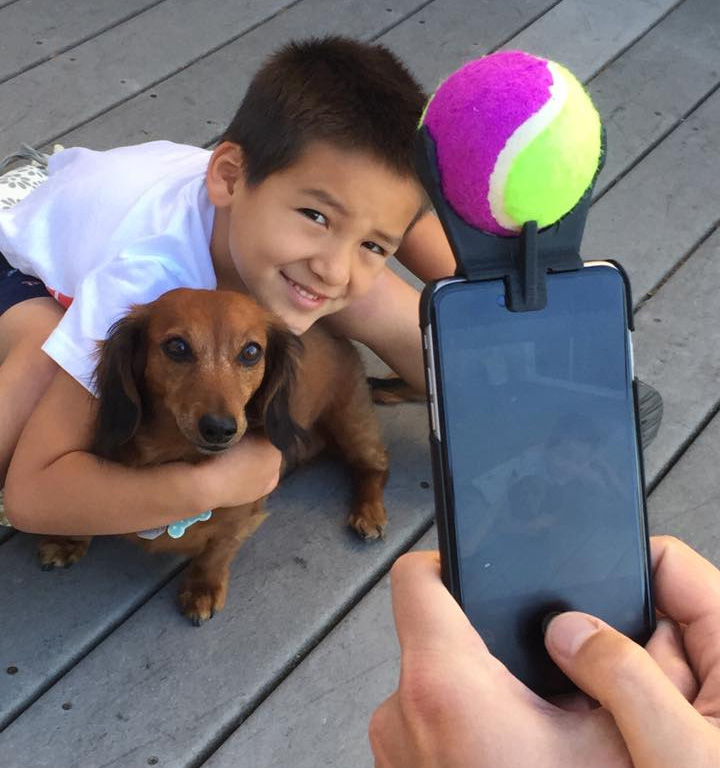 Pooch Selfie - Smart Phone Ball Holder For Dog Selfies
