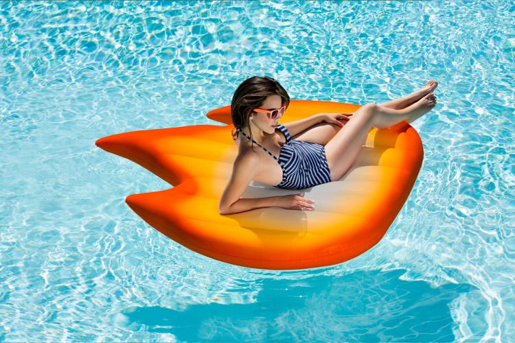 Fire Emoji Pool Float - Giant Emoji Shaped Pool Floats