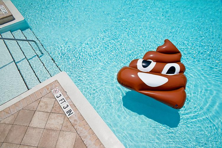 Poop Emoji Pool Float - Giant Poo Emoji Shaped Pool Floats