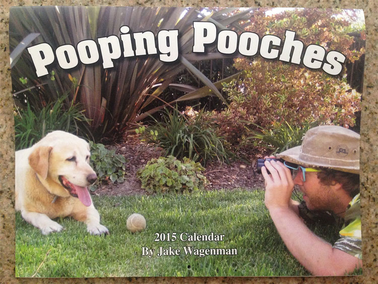 Pooping Dogs Calendar 2015