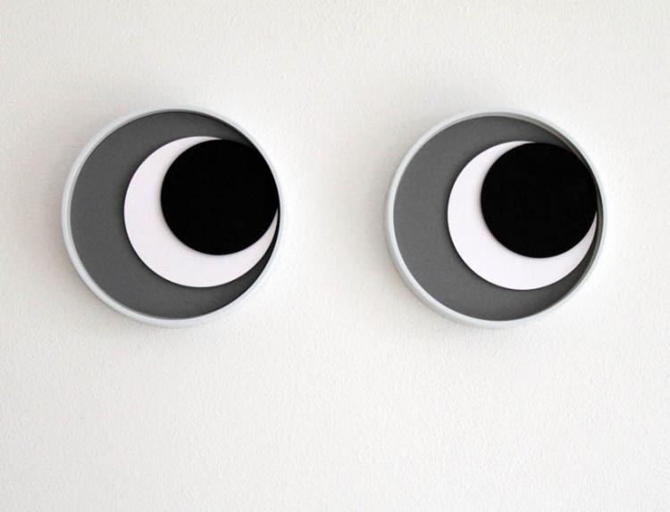 PopEye Clock - Googly Eyes Wall Clock