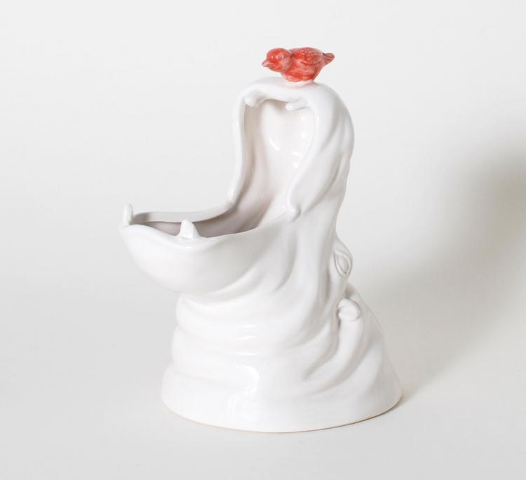 Porcelain Hippo Pencil Holder