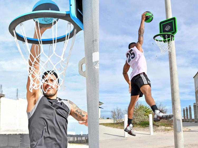 Swish Portable Hoop - Folding Portable Basketball Hoop You Can Wear Like a Backpack