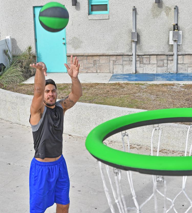 Swish Portable Hoop - Folding Portable Basketball Hoop You Can Wear Like a Backpack