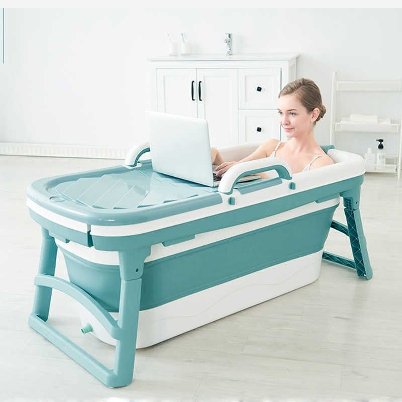 Portable Folding Bathtub - Silicone folding bathtub for tiny homes