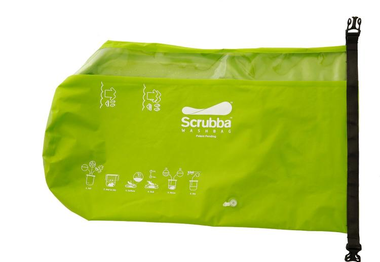 Scrubba Laundry System Wash Bag - Portable washing machine - Wet bag laundry system washes your clothes on the go - Camping Laundry Wash Bag