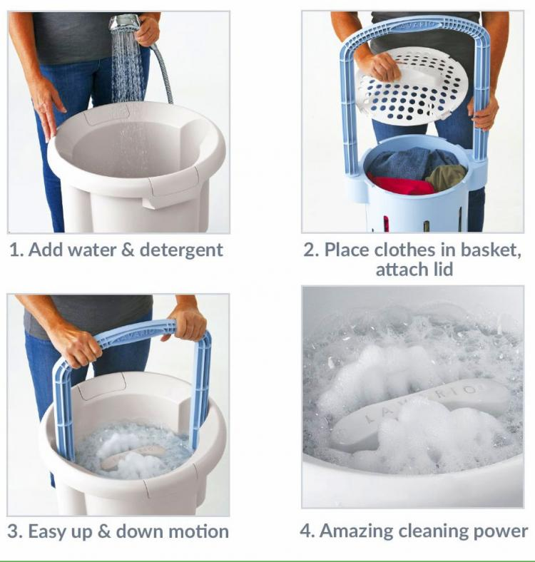 Lavario Portable Manual Washer
