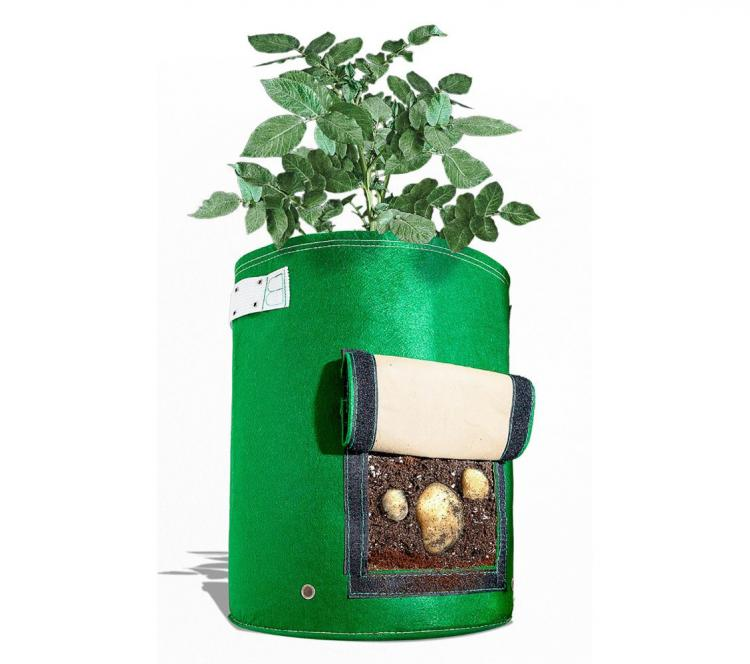 BloemBagz Fabric Potato Planter - Velcro Flap Reveals Potatoes For Harvesting