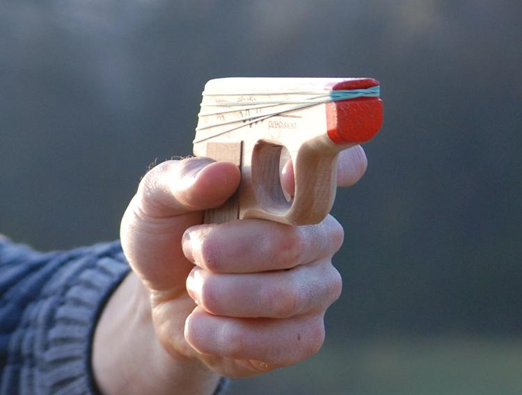PPK Semi-Automatic Rubber Band Hand Gun