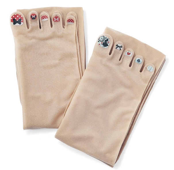 Fake Painted Toenail Stockings From Japan