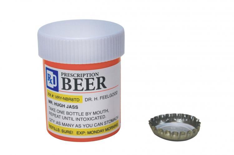pill bottle beer bottle opener