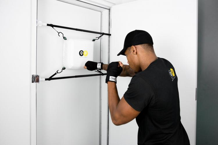 Quiet Punch: Punching Bag That Attaches To Any Door-Frame