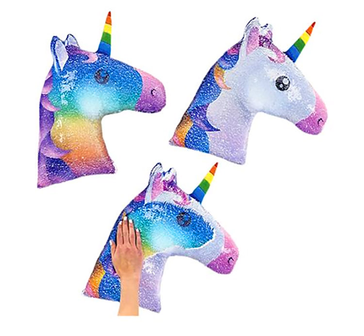 Sequin Unicorn Pillow - Reversible Color Changing Unicorn Pillow