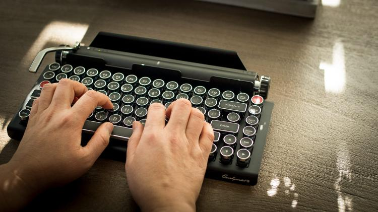 4ae30f90fbf Qwerkywriter Typewriter Keyboard - Vintage retro mechanical keyboard  inspired from a typewriter