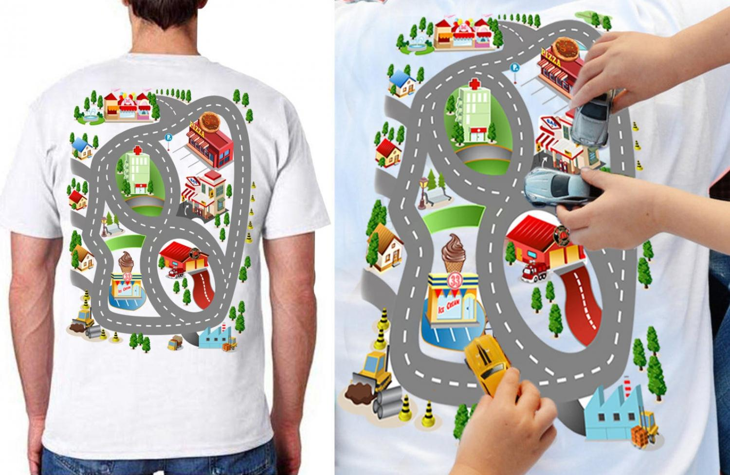 Race Track T-Shirt For Dad