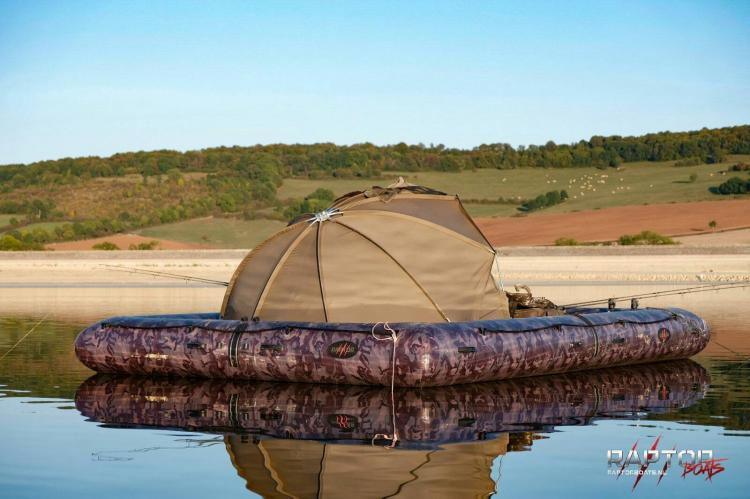 This giant floating fishing platform lets you camp on the for Floating fishing chair