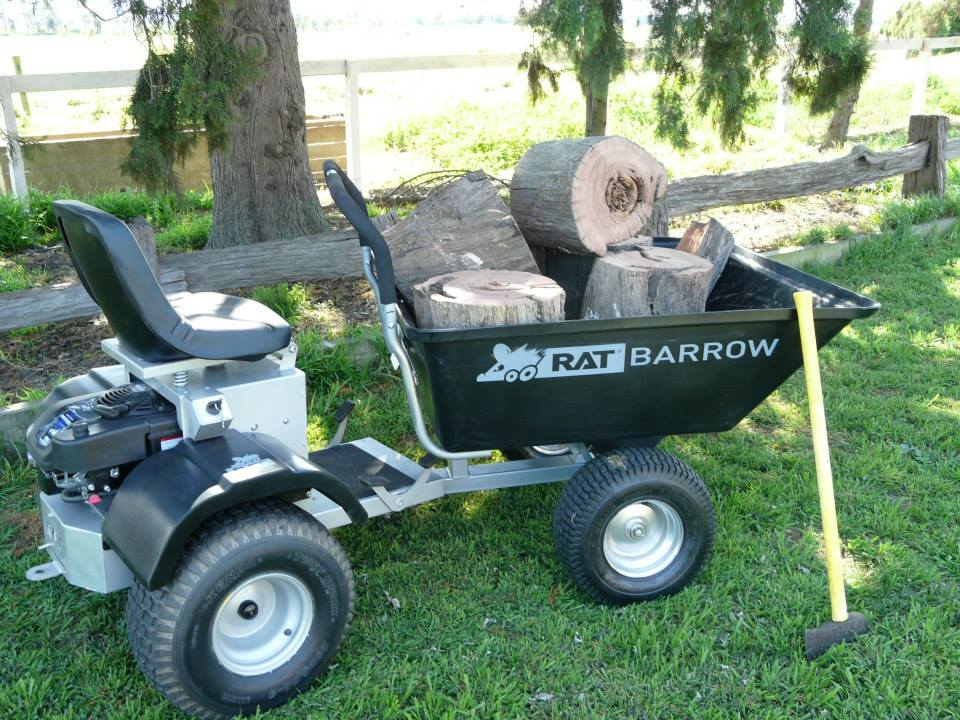 Rat Barrow Ride-on Motorized Wheelbarrow - Rideable wheelbarrow with an engine