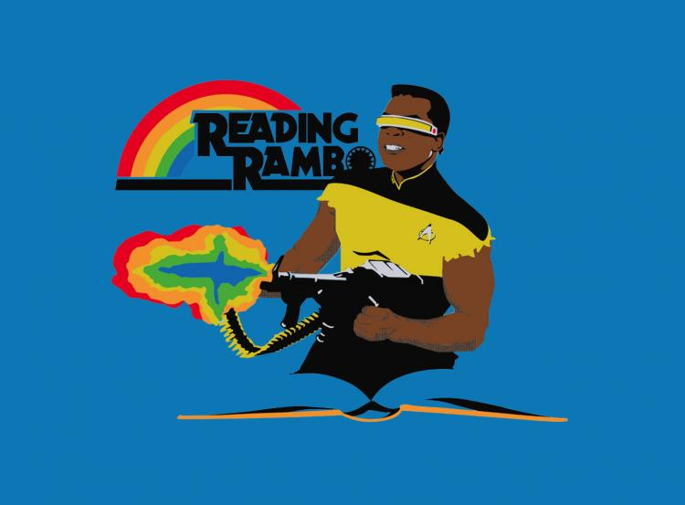 Reading Rambo T-Shirt - Star Trek Rambo Shirt