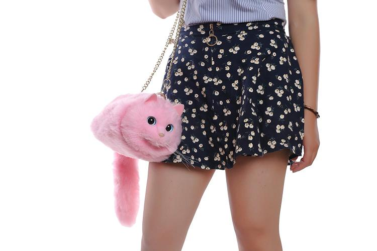 Realistic Cat Shoulder Bag - Cat Body Purse