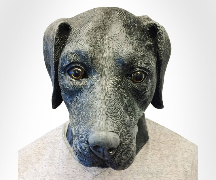 Black Lab Dog Mask
