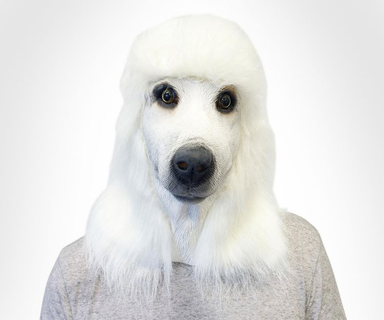 White Poodle Dog Mask