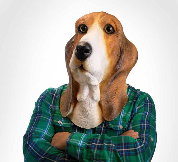 Basset Hound Dog Mask