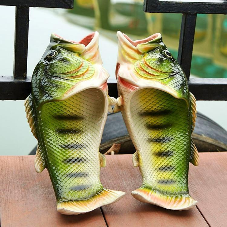 Realistic fish sandals for Bass fishing shoes