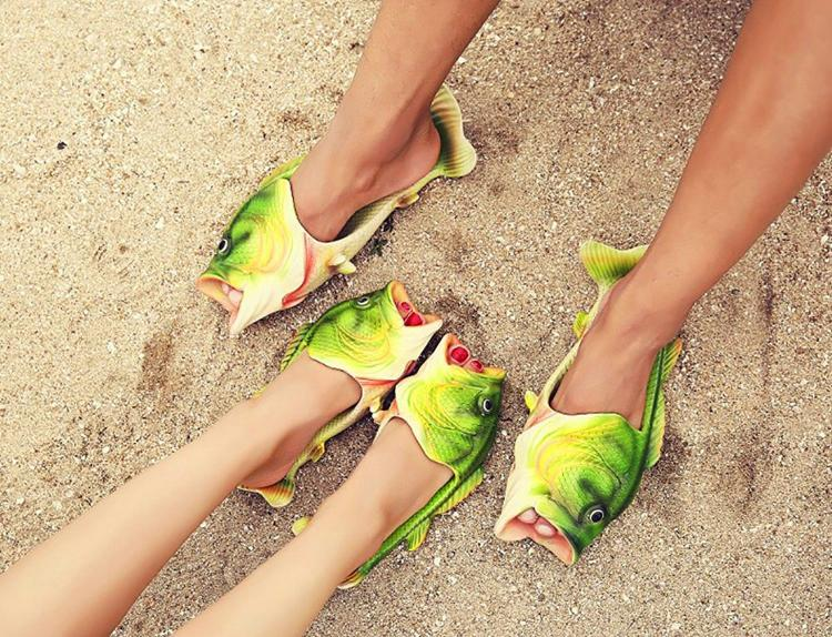 Realistic Fish Sandals - Fish shaped sandals - Fish slippers