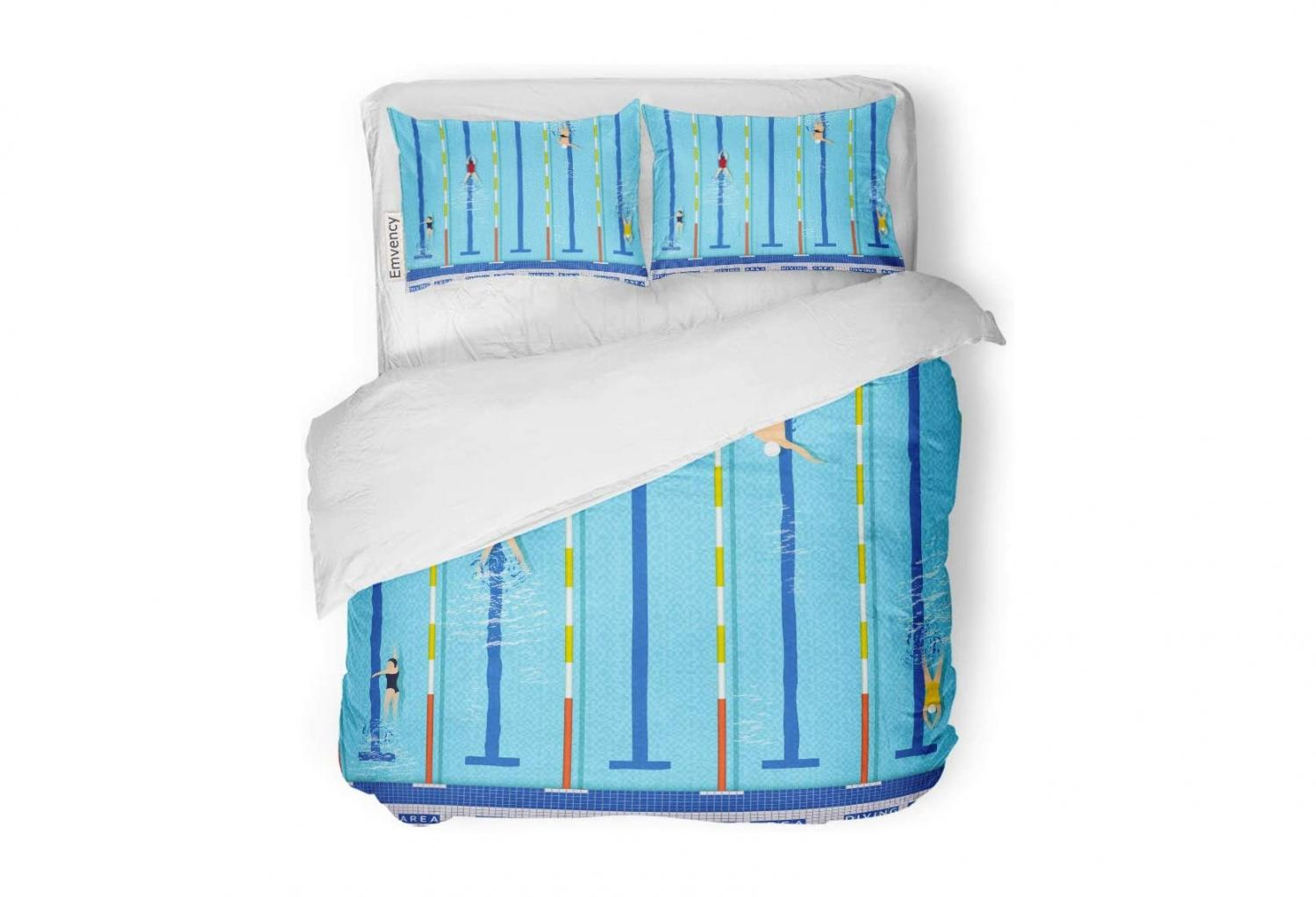 Realistic Swimming Pool Bedding - Olympic pool duvet bed set