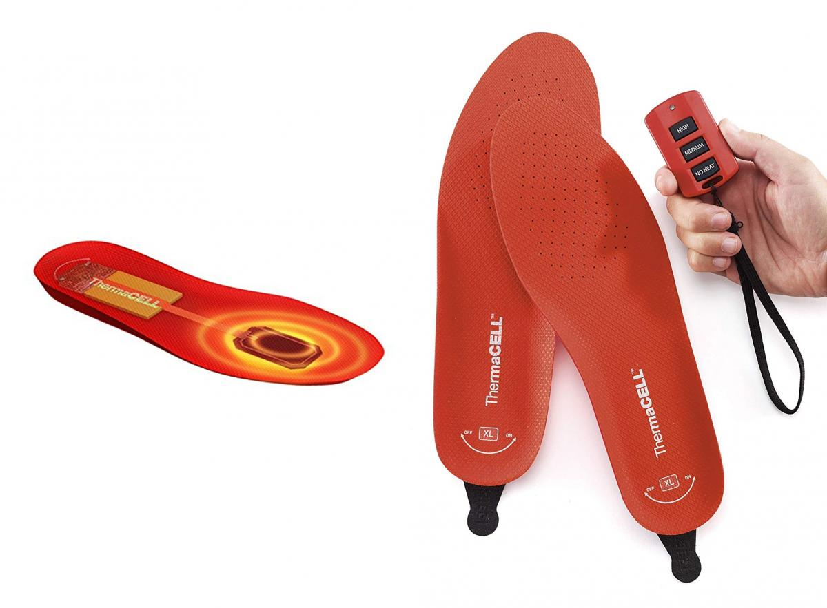 ThermaCell Heated Shoes Insoles - Rechargeable In-shoe feet warmers with remote
