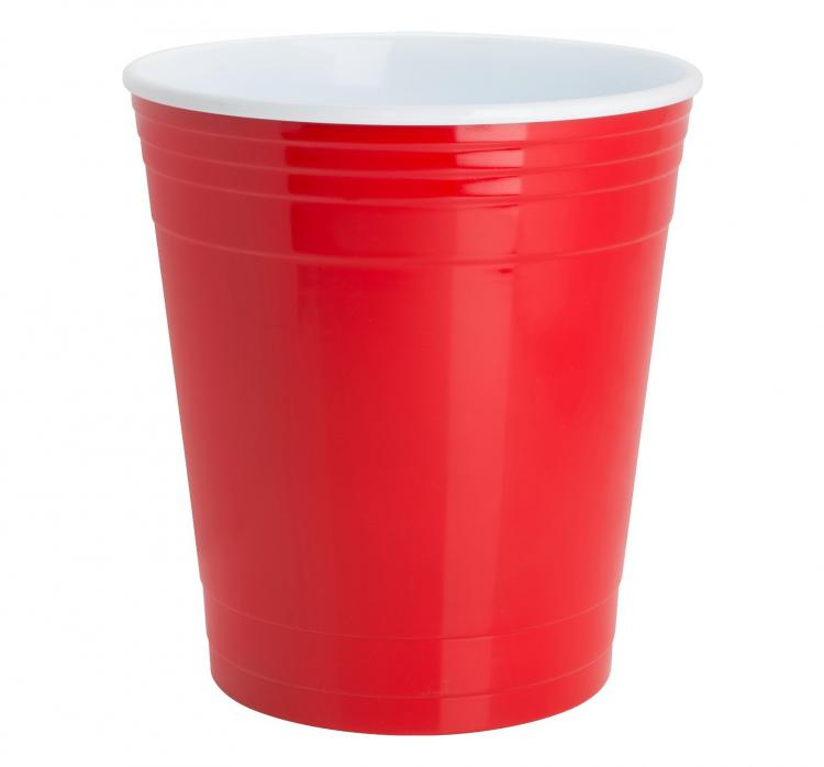 Red Solo Party Cup Garbage Can - Giant Red Cup Waste Basket