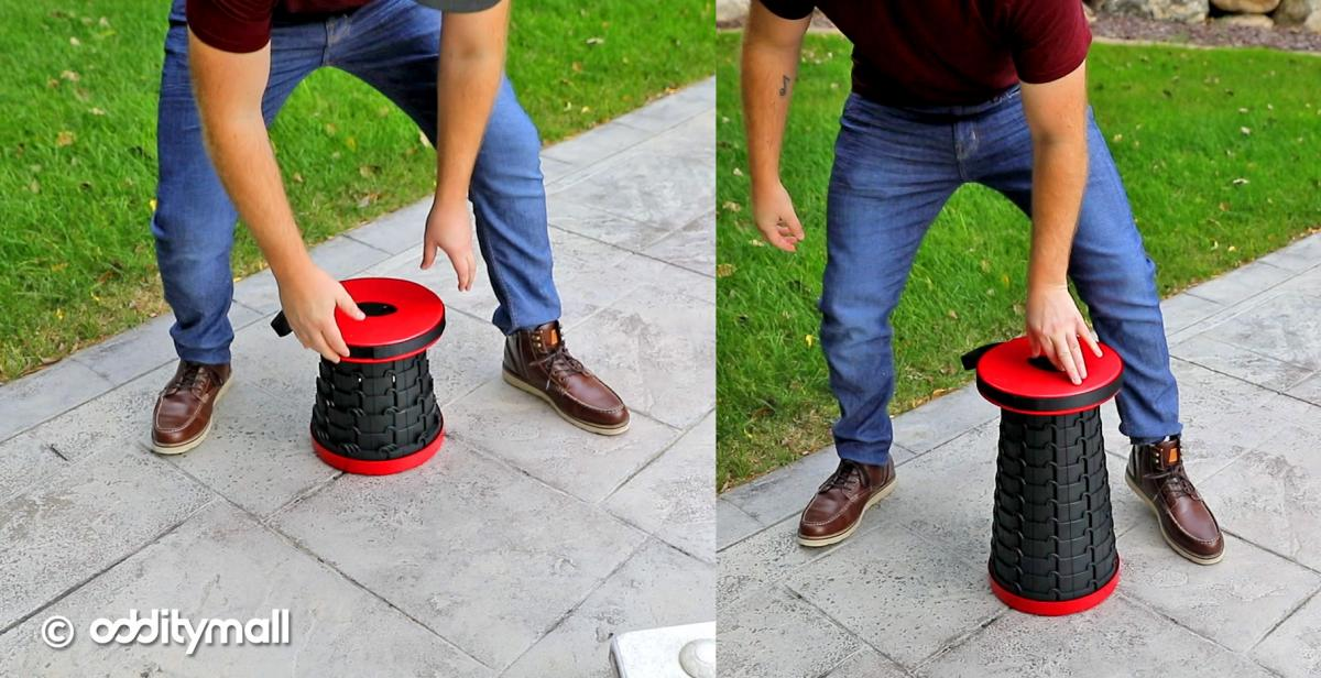 Incredible Collapsing Stool - Retractable Stool Camping Chair