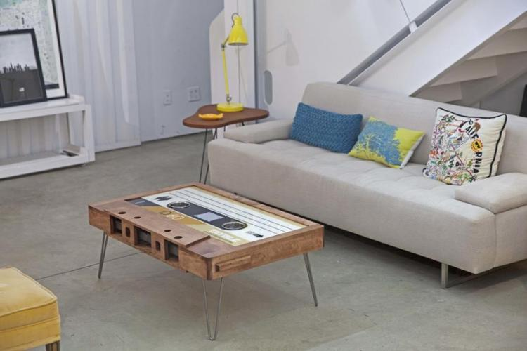giant cassette tape coffee table