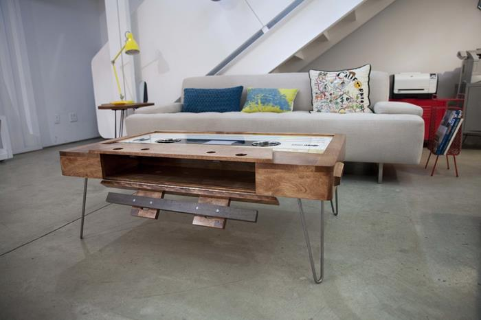 Giant Cassette Tape Coffee Table - Retro modern design music inspired coffee table