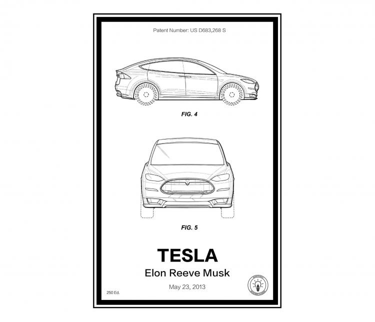 Tesla Retro Patent Print Designs - Technology and Gadget patent prints you can hang on your wall