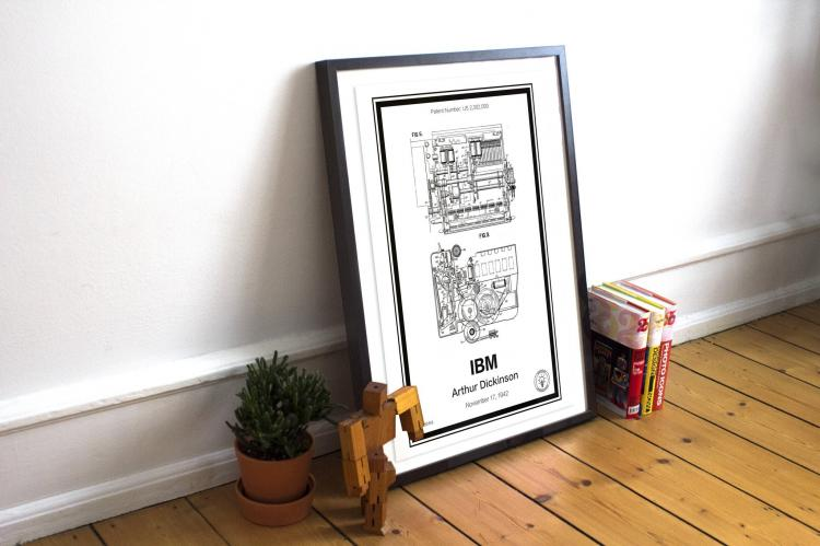 IBM Computer Retro Patent Print Designs - Technology and Gadget patent prints you can hang on your wall