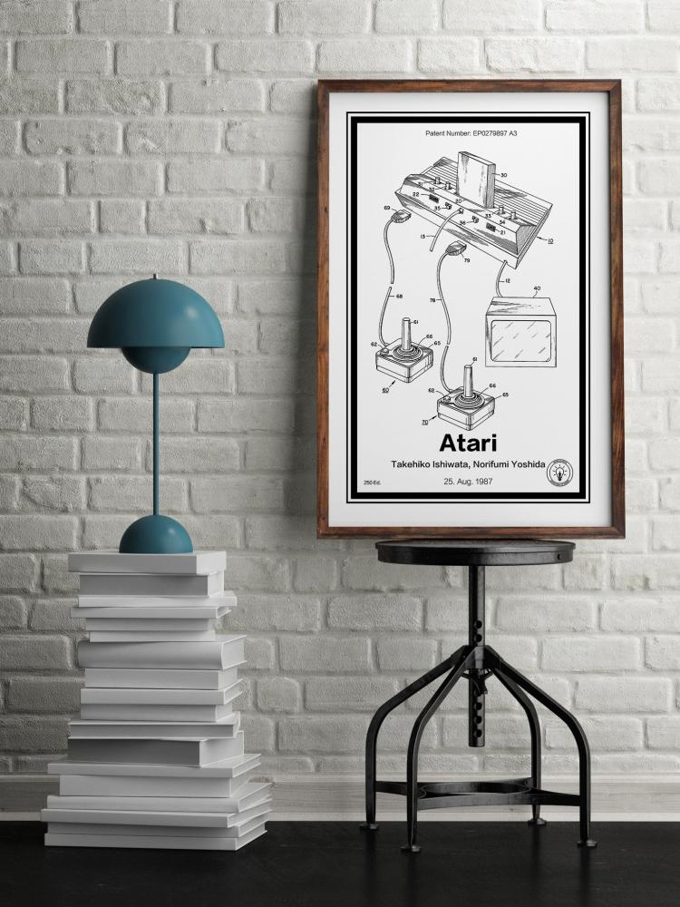 Atari Game Sytem Retro Patent Print Designs - Technology and Gadget patent prints you can hang on your wall