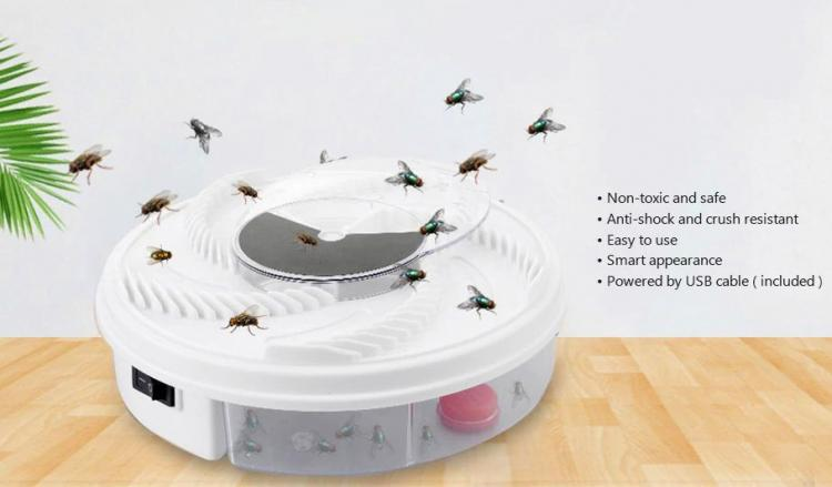 Rotating Fly Trap - Revolving Electronic Housefly trap