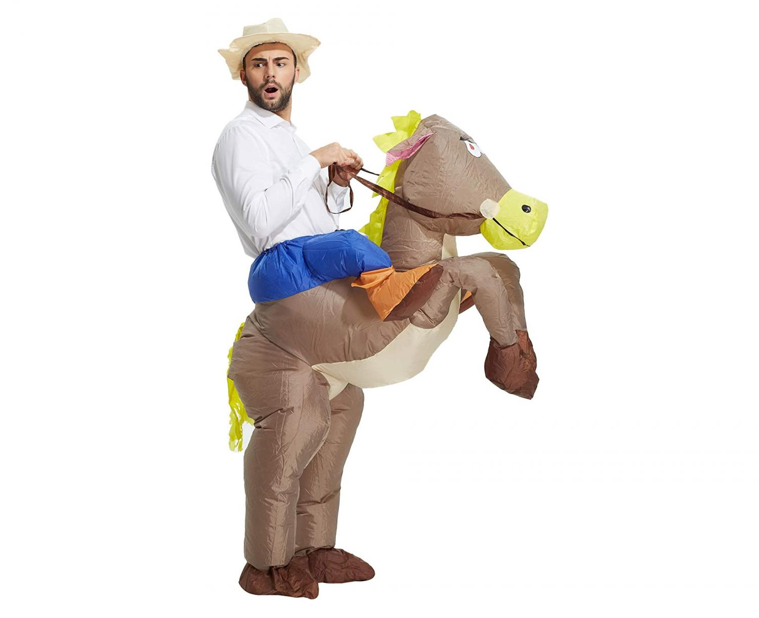 Ride-On Horse Costume That's Inflatable