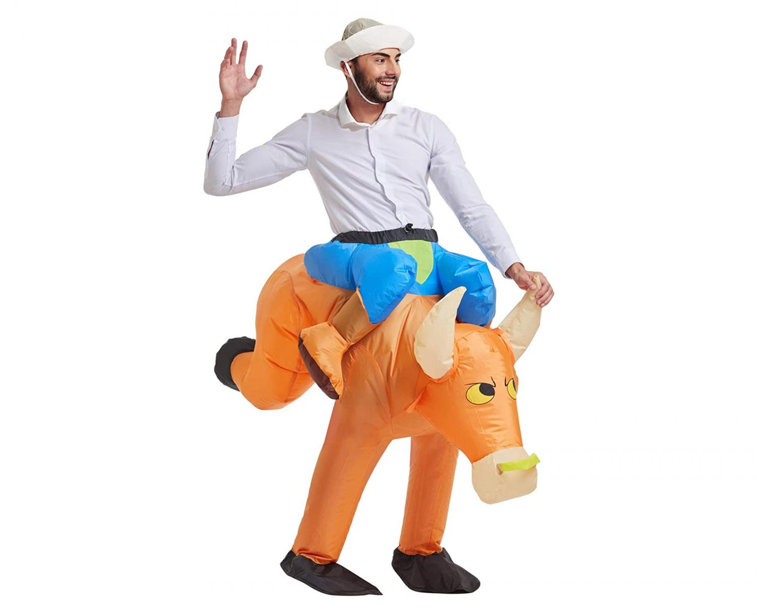Inflatable Ride-On Bull Riding Costume