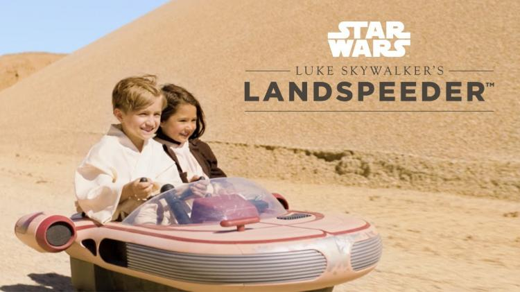 Kids Ride-On Star Wars Landspeeder Electric Toy Car - Star Wars Luke Skywalker's Ride On Landspeeder Hovering Car
