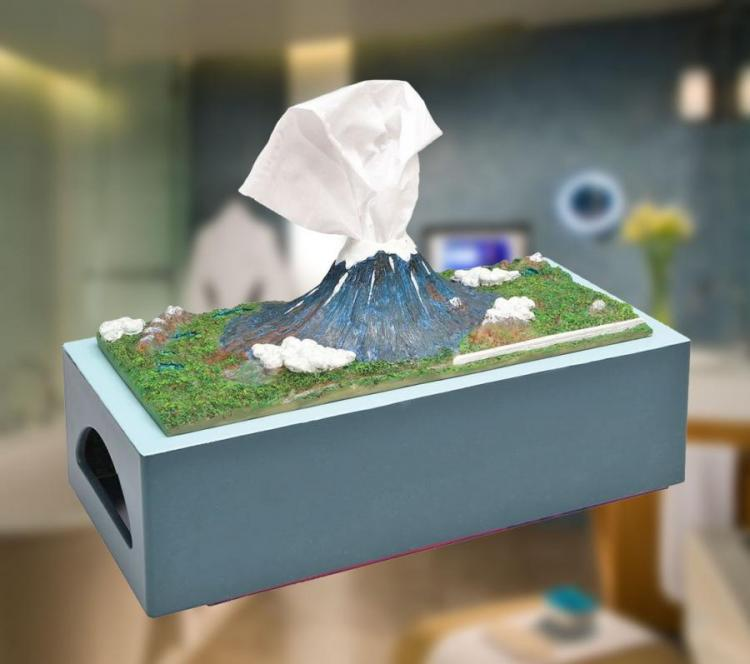 Mount Fuji Kleenex Box: Your Tissues Look Like an Erupting Volcano