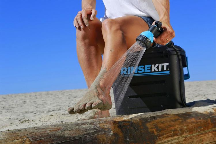 Rinse Kit: A Pressurized Portable Water Shower - Best Portable camping shower