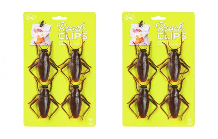 Roach Clips - Bug shaped bag clips deters office lunch thieves - Roach bag clip prank