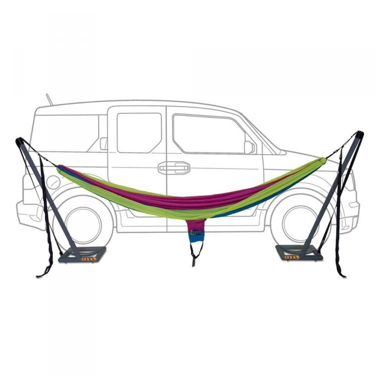 Roadie Hammock - Hammock Uses Car's Weight To Hold Up Hammock - Eagle's Nest Outfitters Car Hammock